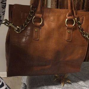 Handbags - Luxurious/vintage brown faux leather bag ✨